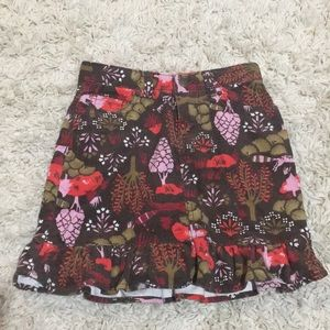 Lands Ends girls corduroy skirt with shorts, 6x